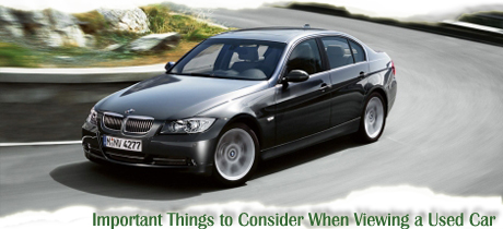 3 Important Things to do When Viewing a Used Car