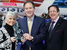 Bill Fay, Group VP & GM Toyota Division U.S. accept award for Toyota Corolla - Most Earth Aware Car of the Year