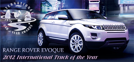 2012 Range Rover Evoque Named 2012 International Truck of the Year by Road & Travel Magazine