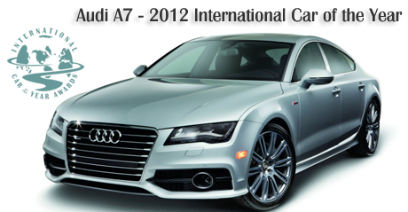 2012 Audi A7 - 2012 International Car of the Year - Road & Travel Magazine