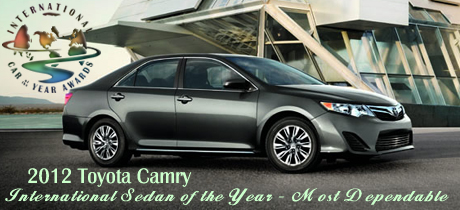 2012 International Sedan of the Year - Most Dependable by Road & Travel Magazine
