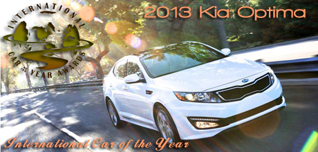 Road & Travel Magazine Names the 2013 Kia Optima - International Car of the Year